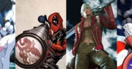 From left to right: Felicia (Darkstalkers), Deadpool, Dante (Devil May Cry), Captain America