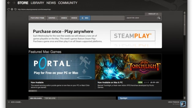 A screenshot of my Steam for Mac client