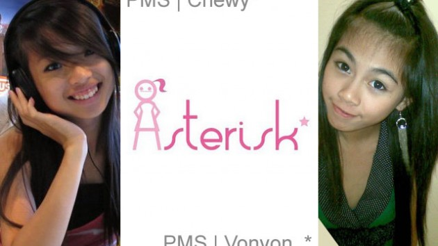 "PMS | Asterisk* new members: Huizhen ""Chewy"" Tan (left) and Yvonne ""Vonvon"" Yong (right)"