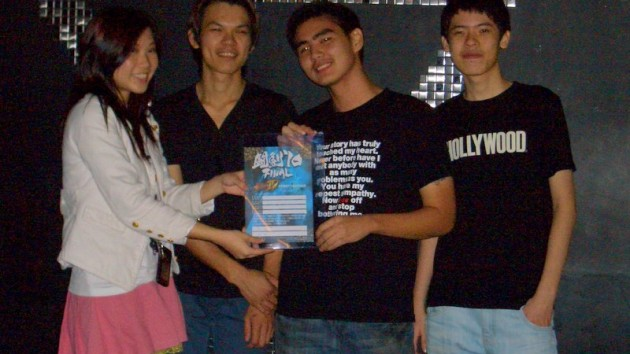 Team Happy. From right to left: Leslie Cheong, Ho Kun Xian and Tommy Teo.