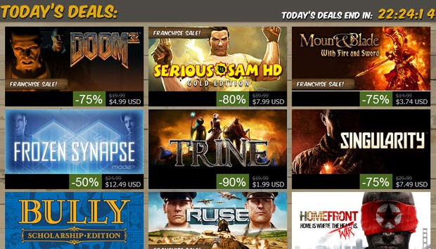 Steam sale daily deals... Wallet health critical!