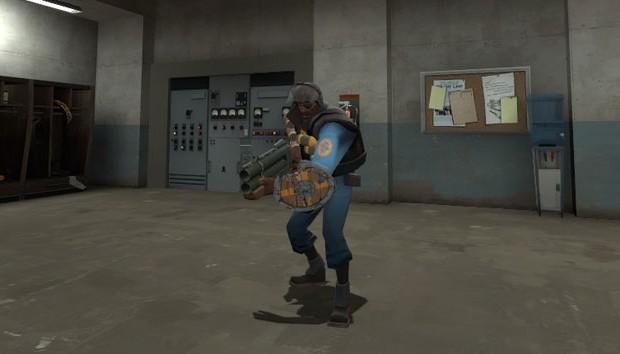 TF2 Demoman with shield