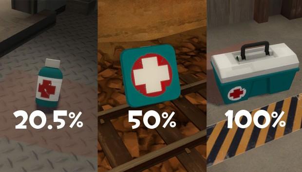 TF2 health kit comparison