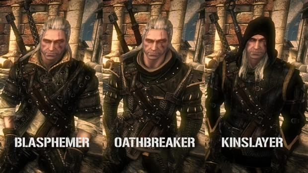 the witcher 2 new dark armor