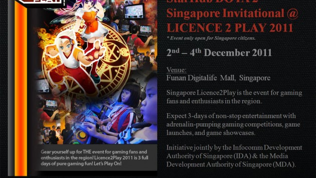 License 2 Play StarHub Dota 2 Singapore Invitational