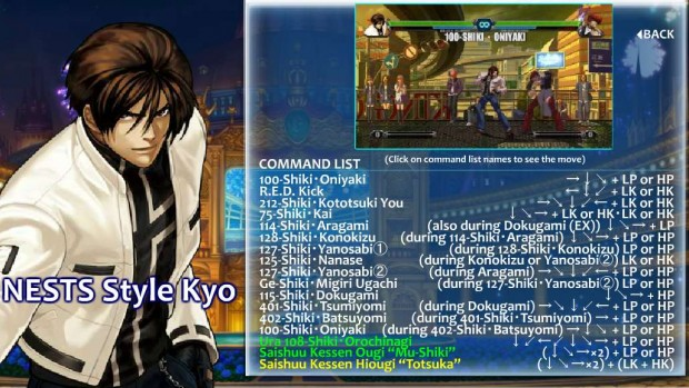 King of Fighters XIII - Nests Kyo