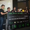 Razer CEO Min-Liang Tan giving away the 1st place cheque to Mineski