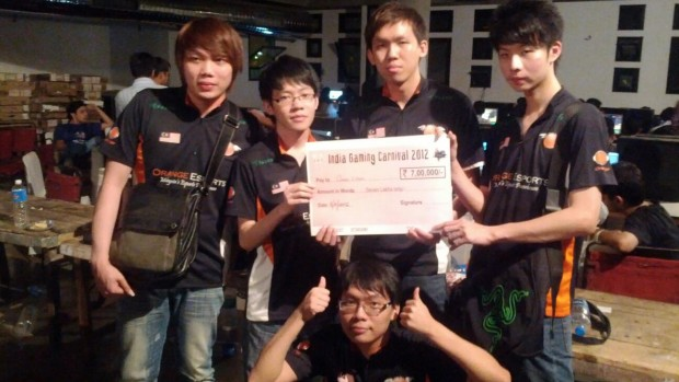 Orange Esports Dota team at India Gaming Carnival