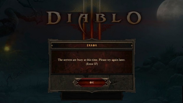 Login error Diablo 3
